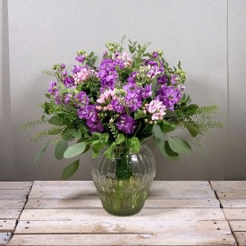 Purple Stocks Vase (Vase...