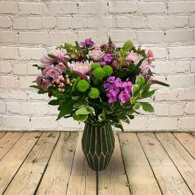 Luscious  Lilacs Vase...