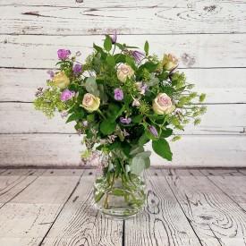 Lilac Rose & Clematis (Vase...